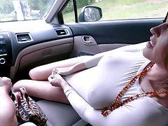 Krissy Lynn becomes horny so she jumps on hard friend's pecker