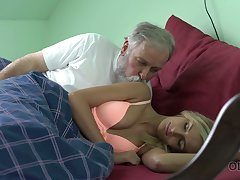Tanned unused owner of natural tits Jenny Ache works not susceptible stiff stalwart old cock
