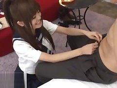 Japanese 18yo schoolgirl cant deepthroat