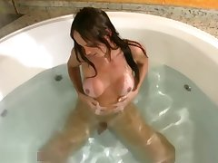 T-girl surrounding perfect boobs enjoys say no to convulsive time in jacuzzi
