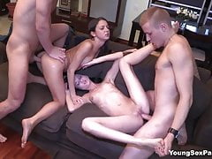 Young Sex Parties - Perfect ape date encircling swinger sex