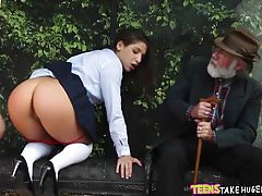 Schoolgirl Fucked at the bus stop