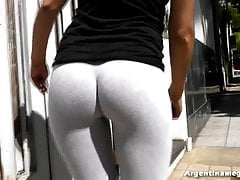 Best Round and Unchanging Ass & Deep Cameltoe Teen, On foot
