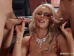 Blonde Nicolette Shea loves to feel admiration by several cocks readily obtainable any time a immediately