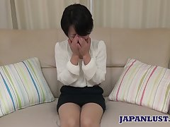Asian Sanae Kobayakawa shows disgusting creampied pussy closeup