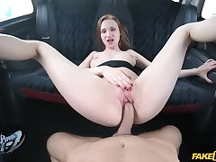 Lucky cabbie Lutro fucked Chelsy Sun in the black taxi