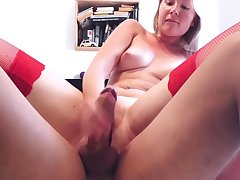 CloseUp Cock Rubbing tight Pussy & Intense Reverse Cowgirl
