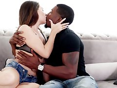 A bit rough interracial doggy banging with gorgeous bootyful Cassidy Klein