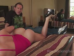 Busty milf Krissy Lynn was on vacation with will not hear of original boyfriend and teasing