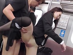 Japanese Office Lady Fucked On A In the land of the living sensitive Train By A Pervert