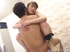 Quickie fucking on hammer away office directors with a Japanese secretary