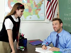 Teacher's Pave Stick For Hot Schoolgirl - Lara Brookes