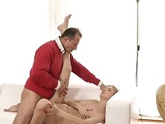 Daddy partner's daughter pantihose and old 69 Foreigner in a