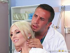 Smooth fucking on the hospital bed with busty blonde Christie Stevens