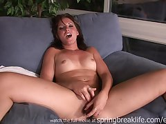 Exciting Masturbation Together with Bleed for Bang