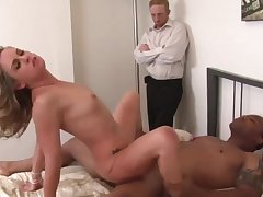 Hot n sexy swinger wives find worthwhile riding dicks in cowgirl positions while husbands watching