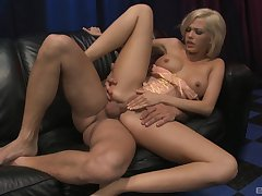 Jenny Handrix gives a curious customer all he wants and needs