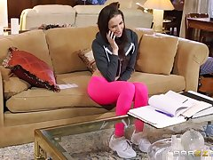 Wild FFM threesome in the living room anent Belle Knox with an increment of Kendra Lust