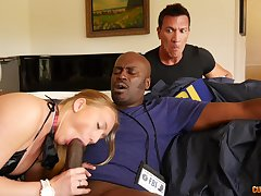 Bedroom seduction with a BBC showing make an issue of hustler proper cuckold