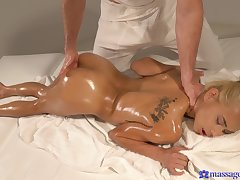 Nice massage leads to amazing fucking with desirable Veronica Leal