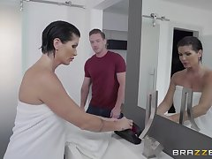 Unexpected lover shocks the hell-fire out of busty MILF Shay Fox