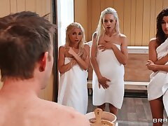 4some orgy with Piper Perri, Alaina & Elsa Jean