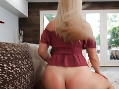 Slutty blonde lured into taboo sex with ruffled stepbrother