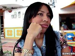 Vibrant fucking at residence apropos fake boobs amateur Camila