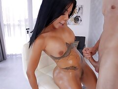 Horny babe Canela Skin takes a thick dick in their way tight asshole