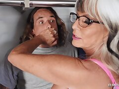 Old and Young Reality Hardcore Sneaky Grandma Tyler Nixon, Sally D'Angelo part 01
